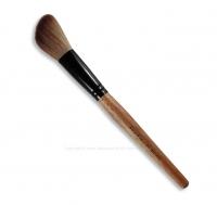 Кисть для румян со скошенным углом на длинной деревянной ручке