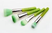 Набор кистей с бамбуковой ручкой (4 шт.) Зеленые