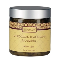 Натуральное черное марокканское мыло Moroccan Black Soap Eucalptus