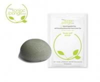 Спонж для умывания с французской зеленой глиной для нормальной и жирной кожи