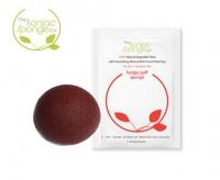 Спонж для умывания с красной глиной для сухой, чувствительной кожи